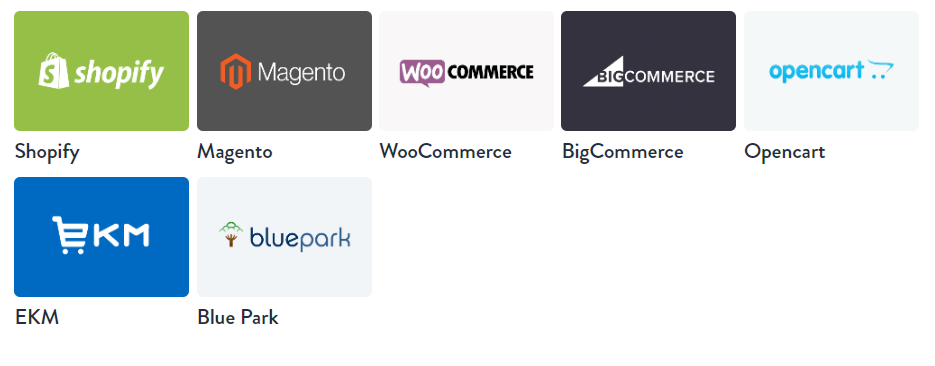 LG Fulfilment Webstores/eCommerce Platforms Integrations